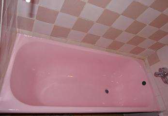 Перекрасим ванну в розовый цвет