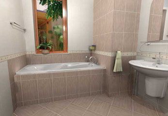 Плитка из керамики в ванную комнату