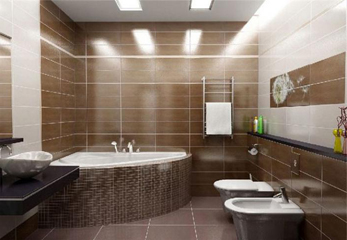 Плитка в ванную на пол и стену