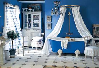 Пример синей ванной