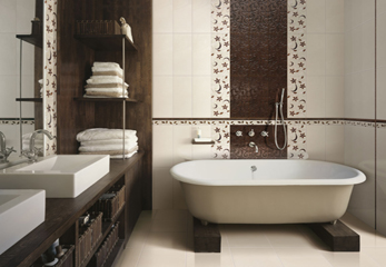 Результат облицовки ванной комнаты