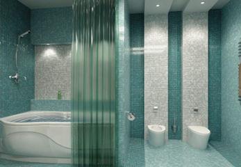Шторы в ванную комнату