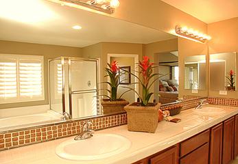 Зеркало с освещением для ванной комнаты