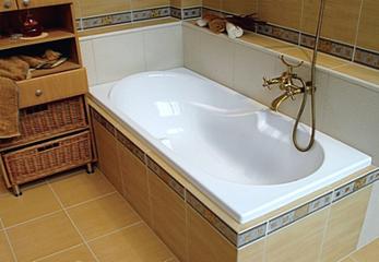Красивая акриловая ванна