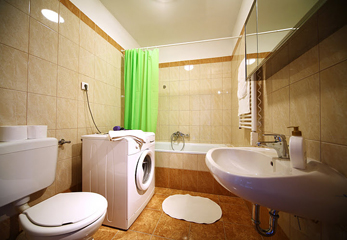 Стиралка в ванной комнате