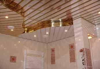 Интересный реечный потолок