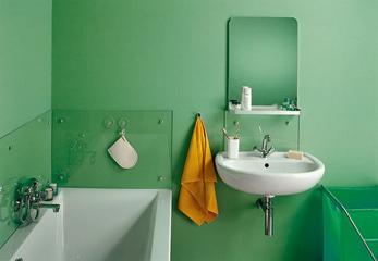 Отделка стен в ванной краской